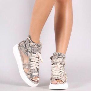 New Python Print Sneaker Sandal